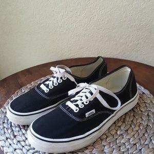 Vans Lace up canvas shoes Size 10b Women GUC